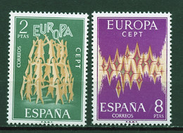 Europa CEPT 1972 Espagne - Spain - Spanien Y&T N°1744 à 1745 - Michel N°1985 à 1986 *** - 1972