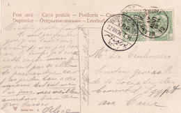 DDY 122 - Carte-Vue TP Armoiries BLANKENBERGHE 1906 Vers L'Egypte - Ambulant PORT SAID-CAIRO - TB Destination - 1893-1907 Coat Of Arms