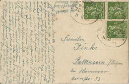 "6 109 Fotokarte Bahnpost ""EUTIN-HEILIGENHAFEN"" 1922 Infla - Usados"