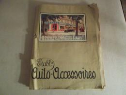 CATALOGUE ETABLISSEMENTS AUTO ACCESSOIRES 1925 - Advertising