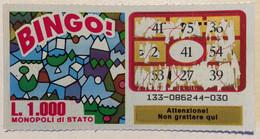 Numero Centrale 41 GRATTA E VINCI  - BINGO - Lottery Tickets