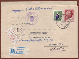 "YUGOSLAVIA, ""NEPOZNAT/INCONNU"" RETOUR LABEL On LETTER 1969 - Covers & Documents"