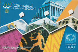 San Marino Postcard 2004 Athens Olympic Games - Postcard From National Olympic Committee In San Marino - Mint (G115-34) - Estate 2004: Atene