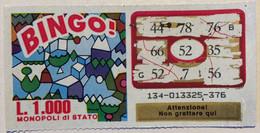 Numero Centrale 52 GRATTA E VINCI  - BINGO - Lottery Tickets