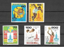 Senegal Série Complète Non Dentelé Imperf JO 80 ** - Summer 1980: Moscow