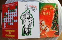 CARTE DE NOEL COCA COLA Avec Quelques Jeux - Cartes Postales