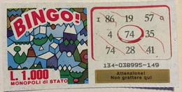 Numero Centrale 74 GRATTA E VINCI  - BINGO - Lottery Tickets