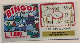 Numero Centrale 75 GRATTA E VINCI  - BINGO - Lottery Tickets