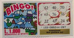 Numero Centrale 76 GRATTA E VINCI  - BINGO - Lottery Tickets