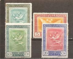 España/Spain-(MH/*) - Edifil  517-19, 521 - Yvert Aéreo 37-39, 41 (óxido) - Neufs