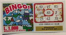 Numero Centrale 83 GRATTA E VINCI  - BINGO - Lottery Tickets