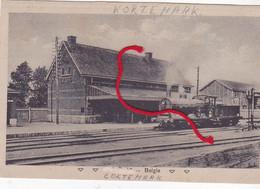 Kortemark Station Gare Locomotief Duitse Postkaart ZELDEN ! - Kortemark