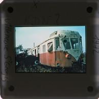 Ancien Autorail Berliet Diapositive - Trenes