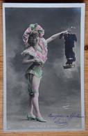 Mam'zelle Michel - Potrait De Femme - Artiste ? Cabaret ? - Fantaisie - Colorisée - Dos Simple - (n°19046) - Entertainers