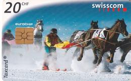 SWITZERLAND - Skikjoring, 09/98, Used - Sport