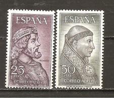 España/Spain-(MNH/**) - Edifil  1538-39 - Yvert Aéreo 294-95 - Neufs