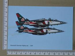 PORTUGAL - DASSAULT-DORNIER ALFHA JET -  FORÇA AEREA PORTUGUESA -   2 SCANS     - (Nº38923) - Aeronaves
