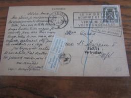 Lot De 10 Cartes Ou Lettres (certaines Avec Contenu) NON DISTRIBUEES Pour Différents Motifs (refusé Pour La Taxe, Inconn - Other