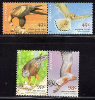 AUSTRALIA - 2001 BIRDS OF PREY SET (4V) FINE MNH ** SG 2140-2143 - Nuevos