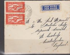 PONTEDELGADA  - 1938 AIRMAIL ABERDEEN LINE COVER TO CAMBRIDGE - Ponta Delgada
