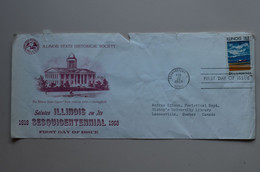 USA 1968 FDC To Canada Damaged , Illinois - Unclassified