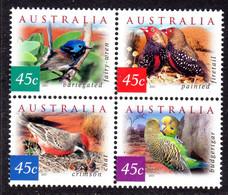 AUSTRALIA - 2001 FLORA & FAUNA 4th SERIES SET (4V) IN BLOCK FINE MNH ** SG 2130-2133 - Nuevos
