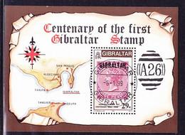 Gibraltar - 100 Jahre Briefmarken Von GBZ (MiNr: Block 9) 1986 - Gest Used Obl - Gibilterra