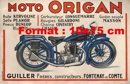Reproduction D'une Photographie D'une Publicité Ancienne Moto Origan DeFontenay-Le-Comte - Reproductions