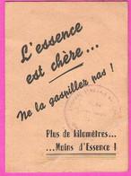 Carte Publicitaire 2 Volets AutoService Carburation Rue Maccarani à NICE L'Essence Est Chère Ne La Gaspillez Pas 1948 - Cars