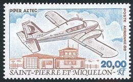 ST-PIERRE ET MIQUELON 1989 - Yv. PA 68 *   Faciale= 3,05 EUR - Avion Piper Aztec Et Aéroport  ..Réf.SPM12606 - Unused Stamps