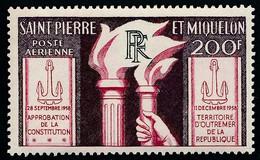 ST-PIERRE ET MIQUELON 1959 - Yv. PA 26 NEUF   Cote= 19,00 EUR - Constitution 11 Décembre 1958  ..Réf.SPM12576 - Neufs