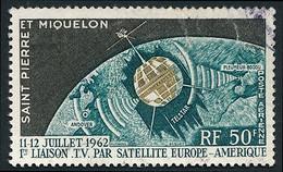 ST-PIERRE ET MIQUELON 1962 - Yv. PA 29 Obl.   Cote= 6,10 EUR - Télécommunications Spatiales  ..Réf.SPM12579 - Neufs