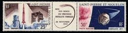 ST-PIERRE ET MIQUELON 1966 - Yv. PA 34A Tryptique **   Cote= 18,00 EUR - 1er Satellite Français  ..Réf.SPM12585 - Neufs