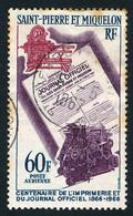 ST-PIERRE ET MIQUELON 1966 - Yv. PA 37 Obl.   Cote= 7,00 EUR - Imprimerie Et Journal Officiel  ..Réf.SPM12593 - Oblitérés