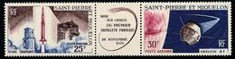 ST-PIERRE ET MIQUELON 1966 - Yv. PA 34A Tryptique **   Cote= 18,00 EUR - 1er Satellite Français  ..Réf.SPM12584 - Neufs