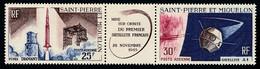 ST-PIERRE ET MIQUELON 1966 - Yv. PA 34A Tryptique **   Cote= 18,00 EUR - 1er Satellite Français  ..Réf.SPM12583 - Neufs