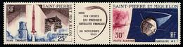 ST-PIERRE ET MIQUELON 1966 - Yv. PA 34A Tryptique *   Cote= 18,00 EUR - 1er Satellite Français  ..Réf.SPM12590 - Unused Stamps