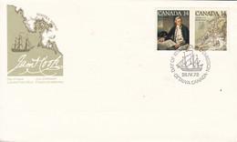 Canada Sc# 763-764 FDC Combination (a) 1978 04.26 Captain James Cook - 1971-1980