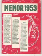 Carnet Calendrier Agenda Vademecum De Poche Publicitaire Apéritifs CAMPARI  MEMOR 1953 - Kleinformat : 1941-60