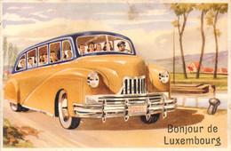 Luxembourg - Fantaisie - Carte à Système - Bonjour De Luxembourg - Autocar - Autobus- - Luxembourg - Ville