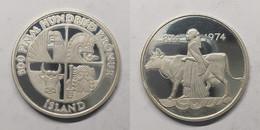 Ijsland 500 Kronur 1974 KM# 20 1100th Anniversary - First Settlement Republic Of Iceland (1944 - 1980) - Islandia