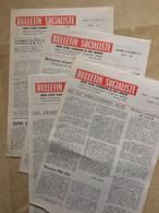 Lot De 4 Numéros. Organe Central D'information Du Parti Socialiste. Bulletin Socialiste. Quotidien. 1971 - 1950 - Nu