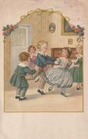 988 - CARTE ILLUST. PAULI EBNER .ENFANTS JOUANT A COLIN MAILLARD  SCANS RECTO VERSO - Ebner, Pauli