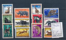 BELGIAN CONGO ANIMALS COB 350/361 MNH - 1947-60: Ungebraucht