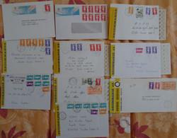 Marianne De Briat : 10 Lettres Recommandées (certaines Avec AR) Dont Tàd Agences Postales, Militaire, Bureaux Annexes - 1989-96 Marianna Del Bicentenario
