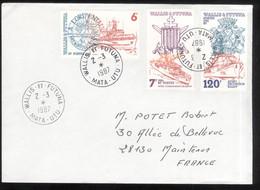 Lettre Philatélique Wallis Et Futuna 1987 - Thème Bateaux / Boats - Unclassified