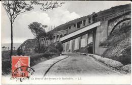 Cpa Rouen - La Route De Bon-Secours Et Le Funiculaire . - Bonsecours