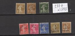 Lot Timbres Français De 1932, N°277A à 279B,  Oblitérés - Gebraucht