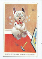 Comic Humour Postcard G.studdy Just A Few Short Words Bonzo 1956 - Humor