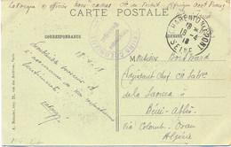 GUERRE 14-18 TIRAILLEURS COLONIAUX VELODROME MUNICIPAL – CHARENTON LE PONT SEINE TàD 18-4-18 Pour ALGÉRIE - Guerre De 1914-18